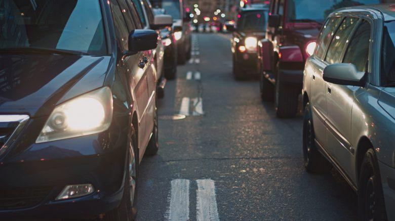 vehicles on road
